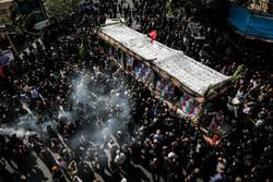 مراسم تشییع پیکرهای مطهر ۱۳۵شهید گمنام دفاع مقدس
