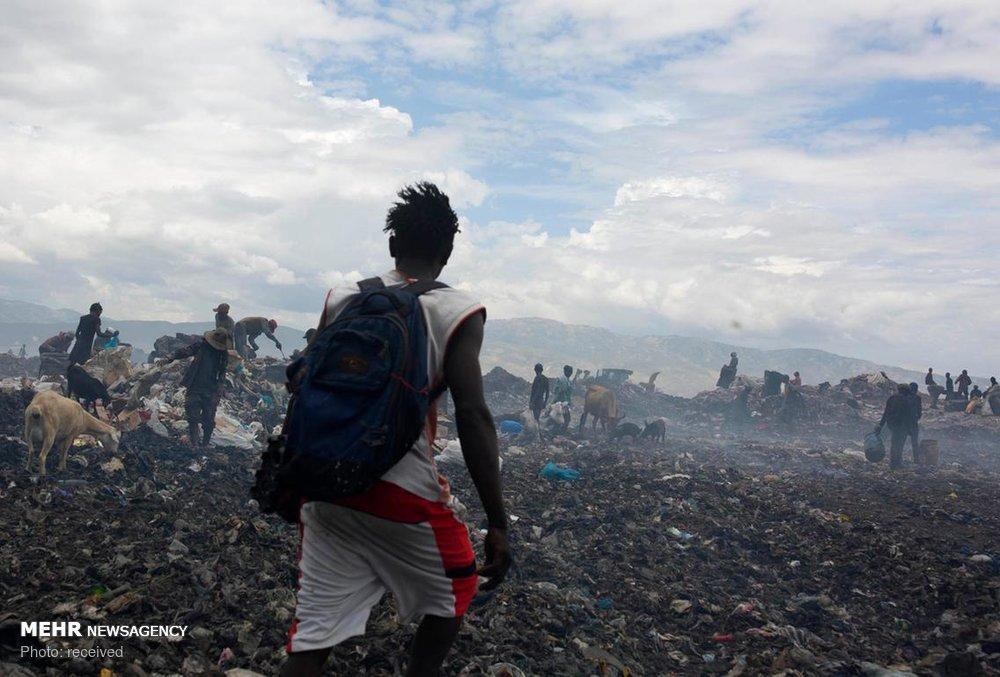 زندگی در میان زباله ها در هائیتی