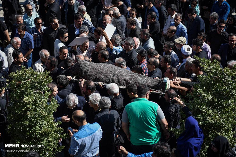 مراسم تشییع پیکر زنده یاد حسین عرفانی