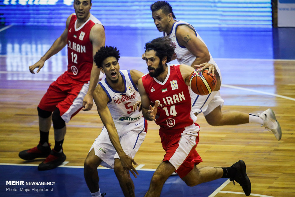 فوز ايران على الفلبين في كأس آسيا لكرة السلة 81-73