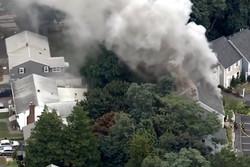 انفجار خطوط انتقال گاز در شرق آمریکا/منازل مسکونی طعمه حریق شدند