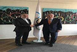 دیدار صالحی امیری با مسئول بخشهای مختلف کمیته بینالمللی المپیک