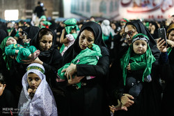 اہواز میں مصلی امام خمینی (رہ) میں حسینی شیر خوار بچوں کی تقریب