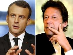 فرانسیسی صدر اور پاکستانی وزیر اعظم کے درمیان فون پر رابطہ