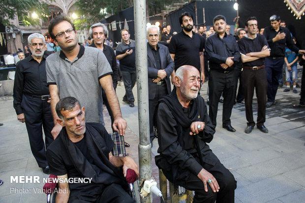 مراسم سینه زنی هیات های حسینی در بازار بزرگ تبریز