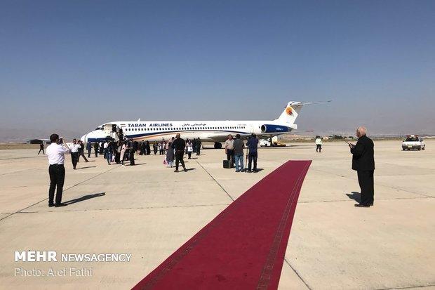 اولین پرواز مسافری در فرودگاه پیام به زمین نشست