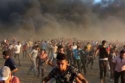 زخمی شدن ۲۵ فلسطینی توسط نظامیان صهیونیست