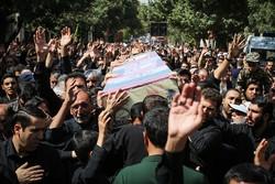 پیکر مطهر شهید صیادی در الوند تشییع شد