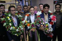 استقبال از قهرمانان مسابقات وزنه برداری قهرمانی پیشکسوتان آسیا