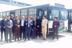 رونمایی از اتوبوس های جدید ناوگان حمل و نقل عمومی شهر یاسوج