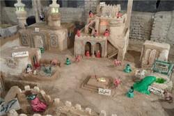 ساخت نمایشگاه «از بقیع تا کربلا» توسط بسیجیان روستای تکه نهاوند