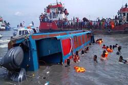 آتشسوزی و غرقشدن یک کشتی در سواحل اندونزی/ ۱۳ نفر کشته شدند