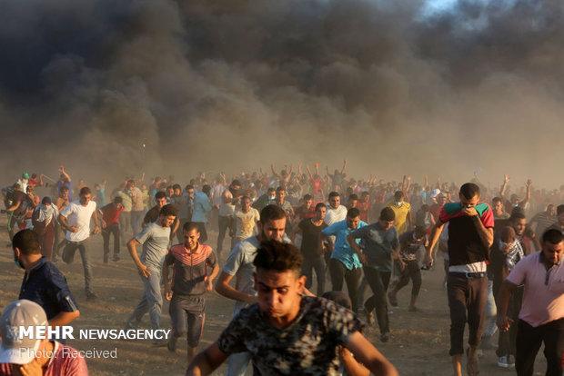 زخمی شدن ۱۱ فلسطینی توسط نظامیان صهیونیست