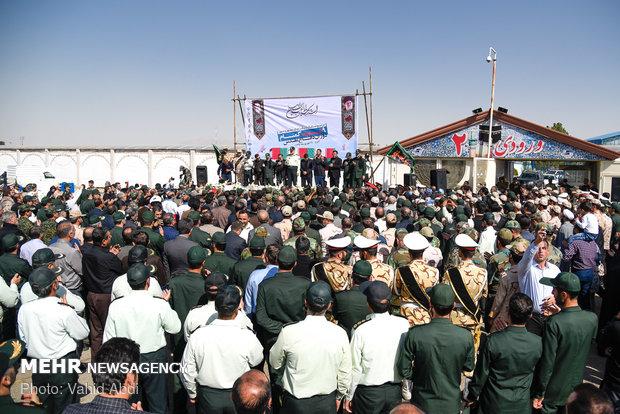 مراسم استقبال از ۹ شهید گمنام در تبریز
