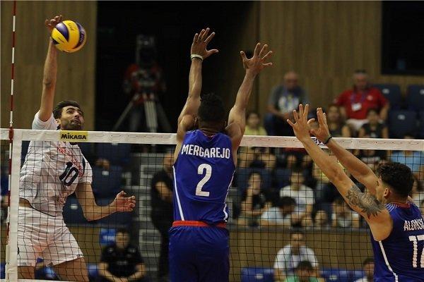 Iran gains 3rd consecutive win in FIVB World C'ships vs Cuba
