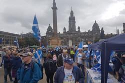 سکاٹ لینڈ میں برطانیہ سے آزادی کے مطالبے کے حق میں مظاہرے