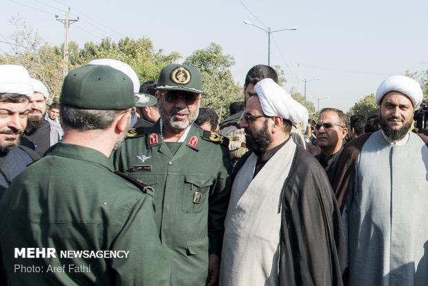 مراسم تشییع پیکر شهید مدافع حرم اصغر الیاسی