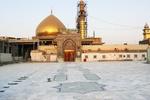 صحن باب الغیبه حرم مطهر عسکریین(ع) با سنگ ایرانی مفروش شد