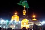 مشهد در سوگ شهادت امام عسکری(ع) سیاهپوش شد