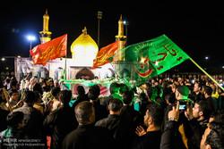 مراسم وداع با دو شهید گمنام در بین الحرمین اهواز