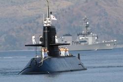 نخستین تمرین نظامی زیردریایی ژاپن در دریای چین جنوبی