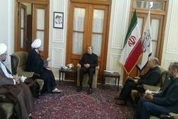 رئیس دانشگاه مذاهب اسلامی با رئیس مجلس دیدار کرد