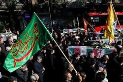 تشییع پیکر مطهر ۹ شهید گمنام در تبریز