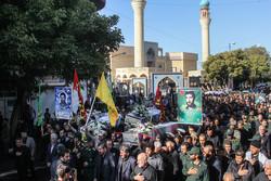 تشییع پیکرهای مطهر ۹ شهید گمنام دفاع مقدس در تبریز