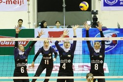 Iranian volleyball players win 2nd match at AVC cup