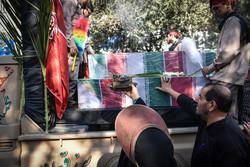 تشییع و تدفین ۲ شهید گمنام در دانشگاه آزاد نهاوند