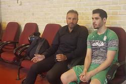 حضور محمدرضا حیدریان در تمرین تیم ملی فوتسال
