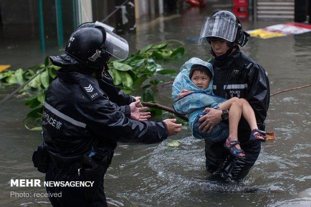 ابرطوفان منگخوت در چین و هنگ کنگ