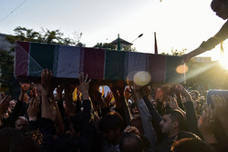 پیکر شهید تازه تفحص شده«علی نصرتی» در علی آباد کتول تشییع شد