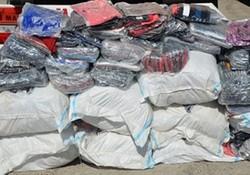 کشف بیش از ۲۰۰۰ ثوب انواع البسه قاچاق در کرمانشاه