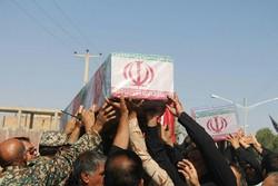پیکر مطهر دو شهید گمنام در شهر بهرمان تشییع شد