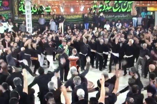 شکوه عزاداری حسینی در مسجد کوی شنبدی بندر بوشهر