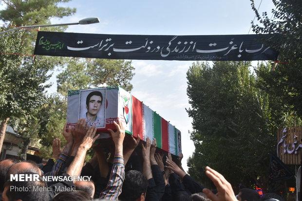 مراسم تشییع شهید جاویدالاثرنبی الله محسنی