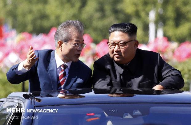 Kuzey ve Güney Kore lideri bir arada