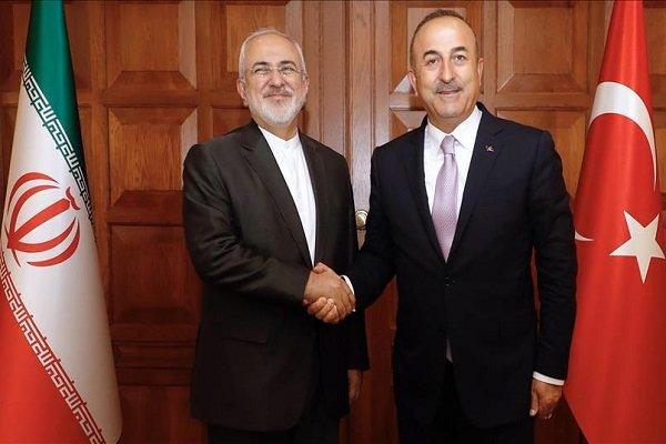 وزیر خارجه ترکیه با ظریف گفتگو کرد