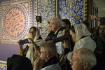 Foreign tourists attending Muharram mourning in Yazd