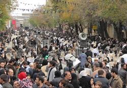 تجمع بزرگ تاسوعا و عاشورا در چهارراه اجاق کرمانشاه