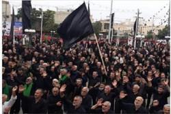 مراسم متمرکز عزاداری مردم بهار در روز تاسوعای حسینی