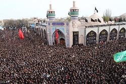 اجتماع عظیم حسینیان اردبیل برگزار شد/فریاد دلدادگی به سقای کربلا