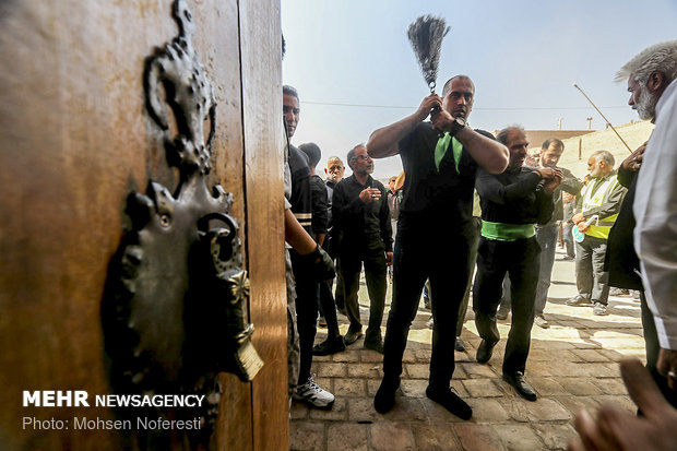 مراسم عزاداری روز تاسوعا در حسینه امام رضا(ع) بیرجند