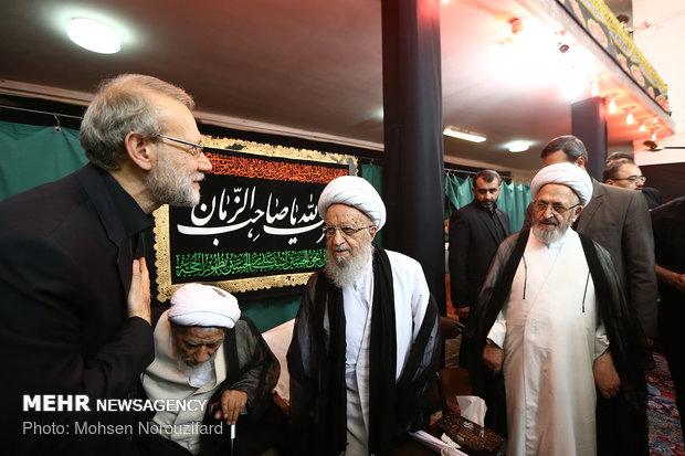 مراسم عزاداری در بیت آیت الله ناصر مکارم شیرازی