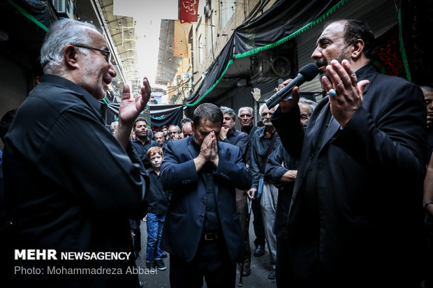 Tasu'a mourning in Tehran's Grand Bazaar