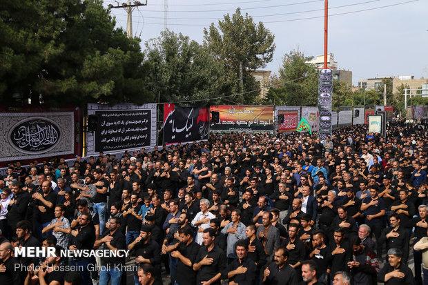 مراسم تاسوعای حسینی در تاکستان