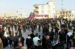تجمع بزرگ هیئتهای عزاداری شهر دیر در روز تاسوعا برگزار شد