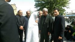 شهردار تهران در حرم حضرت عبدالعظیم به عزاداری پرداخت