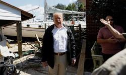 سفر ترامپ به مناطق طوفان زده